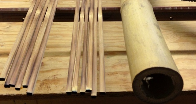 Strips split from the finest Tonkin Bamboo