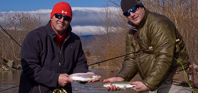 Fly Rod Chronicles '22 degrees Episode' Curits and Koby with a double